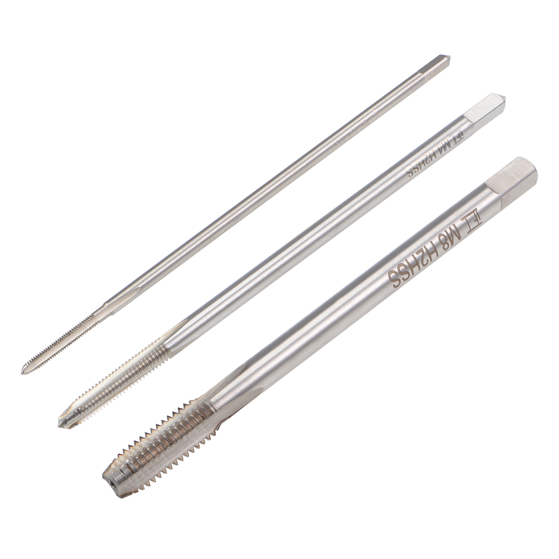 10pcs Metric Taps M2.5 x 0.45mm PitchThread Plug Tap HSS