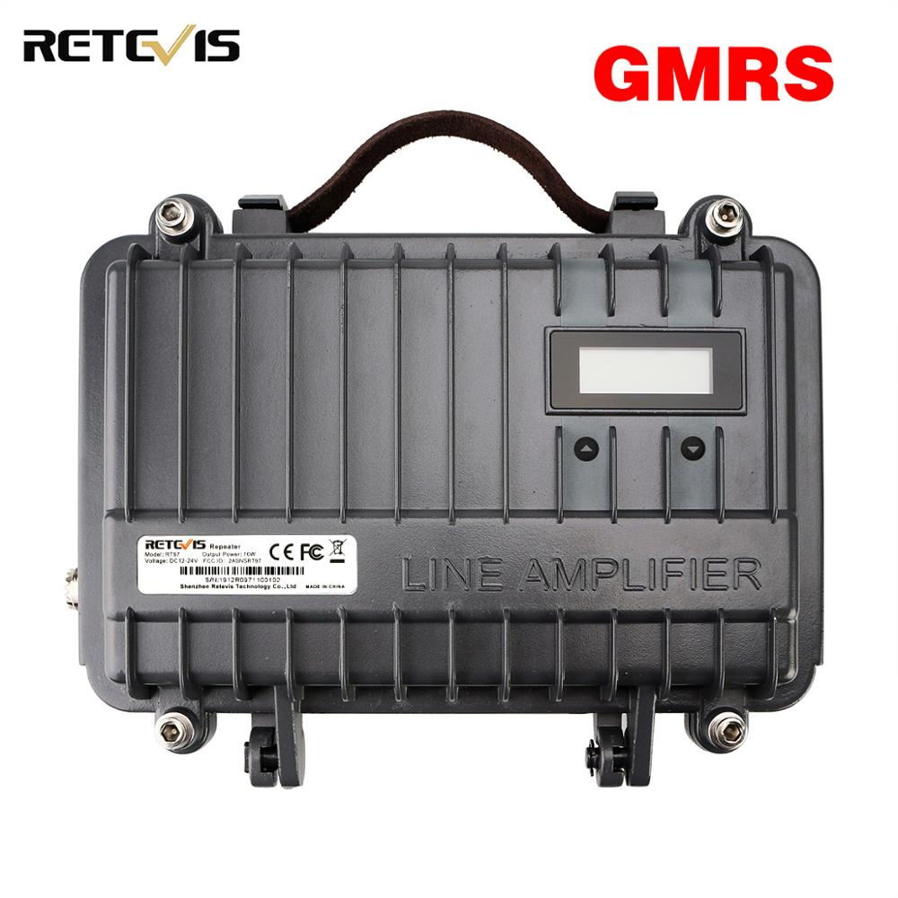 Full Duplex GMRS Mini Analogue Repeater RETEVIS RT97 Two Way Radio Repeater 10W GMRS 462-467 MHz Repeater For Walkie Talkie