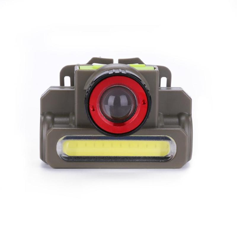 Zoomable Q5+COB LED Rechargeable Headlamp Headlight Flashlight