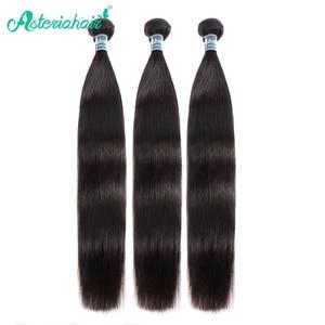 Asteria Hair Peruvian Straight Hair Bundles 10-30 Inch 3 Bundles Human Hair Bundles Natural Black Remy Hair Extensions(China)
