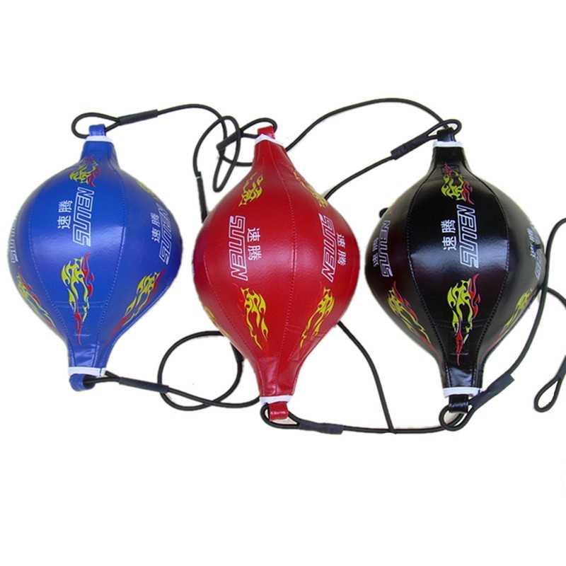 Suteng Hitam Api Tinju Kecepatan Bola Meninju Tas Pear Inflatable Tinju Peralatan MMA Bola Binaraga Kebugaran Inflatable Spee