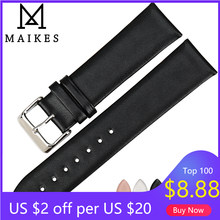 MAIKES – bracelets fins en cuir véritable pour montre DW, nouveau, accessoires, 16 18 19 20 22mm, pour daniel wellington bracelet de montre