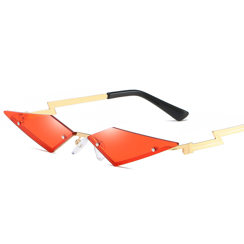 New Fashion Rimless Sunglasses Women/Men Luxulry Brand Cat Eye Frameless Alloy Eyeglasses Female UV400 Shades Oculos De Sol
