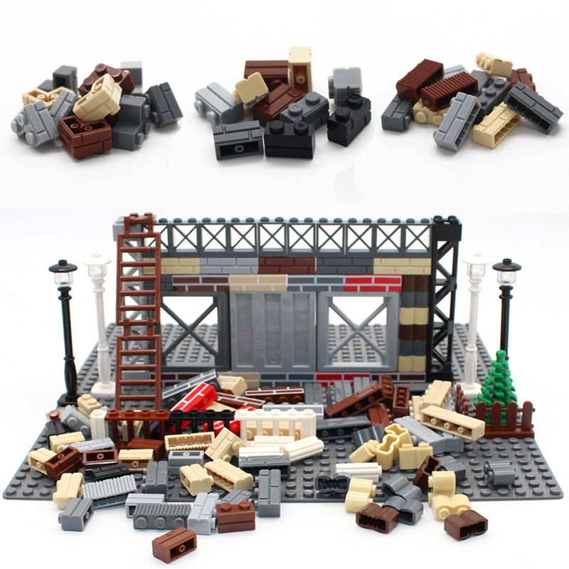 City Plant Build DIY Block Bricks Wall Brick MOC Enlighten Building Blocks Parts Compatible With Legoed Creative Children Toys
