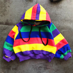 Image 3 - Hot Sale Brand Boys Clothing Children Winter Boys Clothes Rainbow Bar Kids Boy Clothing Set Thickened Hoodie, Thickened Jeans