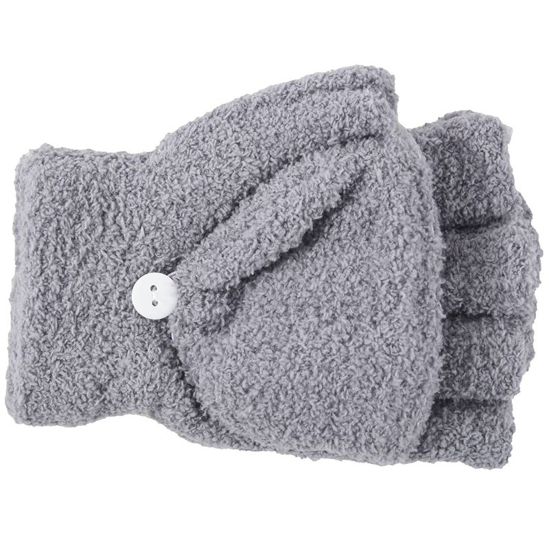 Girls Cute Fluffy Hand Wrist Warmer Soft Winter Fingerless Gloves Women Mitten
