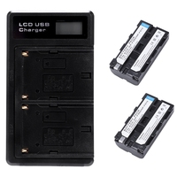 BEST2 Pcs Np F550 Battery And Lcd Dual Battery Usb Charger For Sony Np F550 Battery Compatible With Sony Np F330 F550 F570 And S|Battery Accessories| |  -