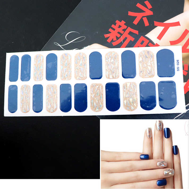 22 tips/vel Nieuwe Franse Nail Wraps Nail Art Stickers Strepen Ontwerpen Waterdichte Nagellak Volledige Cover Manicure Patch make-up