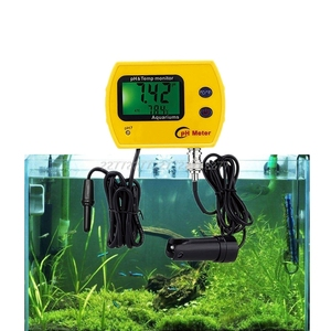 Image 2 - Digital LCD Online pH Meter Aquarium Water Quality Tester Monitor Analyzer with Thermometer pH Temperature Display O24 19
