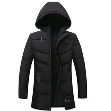 Men Winter Jackets With Hood Puffer Outerwear Male Navy Blue Dark Green Black Puff Basic Coat Quilted Overcoat Warm Jacket