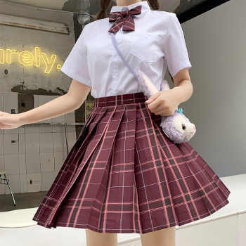 Japanese School Uniforms Red Plaid Skirts Girl\'s Dresses JK Suits Bowknot Shirt Female Sailor Costumes Dress Clothes for Women - DISCOUNT ITEM  30 OFF Novelty & Special Use