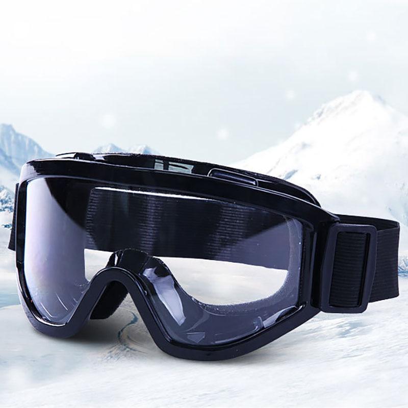 Transparent Ski Goggles Anti-fog Dustproof Ski Mask Glasses Skiing Snow Men Women Snowboard Goggles