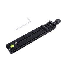 200Mm Nodalสไลด์Quick Release Clamp AdapterสำหรับMacro Panoramic Arca Quick Release Plateขาตั้งกล้องอลูมิเนียม