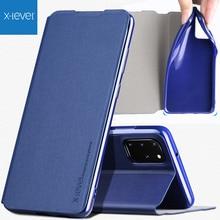 X Niveau Boek Flip Leather Case Voor Samsung Galaxy S20 Ultra Plus Ultra Dunne Slanke