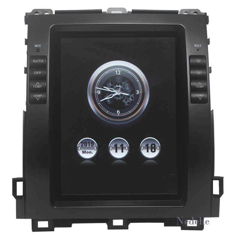 """REPRODUCTOR DE DVD navegador GPS para coche Android 9,0 RAM 4G para Lexus GX470/ Toyota Land Cruiser Prado 120 2002-2009 estilo Tesla Unidad de 10,4"""""""