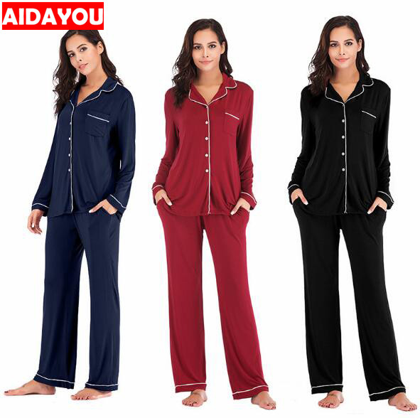 Winter Pajama Sets 2 Pieces Women Lounge Suit Velvet Elastic Long Sleeves Stretch Sleepwear Pants Tops Satin Plus Size ouc041-in Pajama Sets from Underwear & Sleepwears
