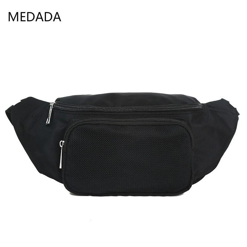 Medada New Fashion Ladies 2019 Fanny Pack  Women  Waist Belt Bag   Waist Bag  Small Shoulder Bags Black