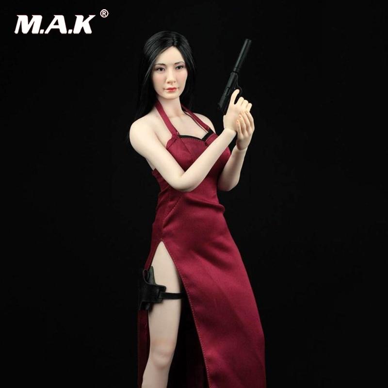 afs a003r 1 6 assassino do sexo feminino ada wong cheongsam conjunto de roupas