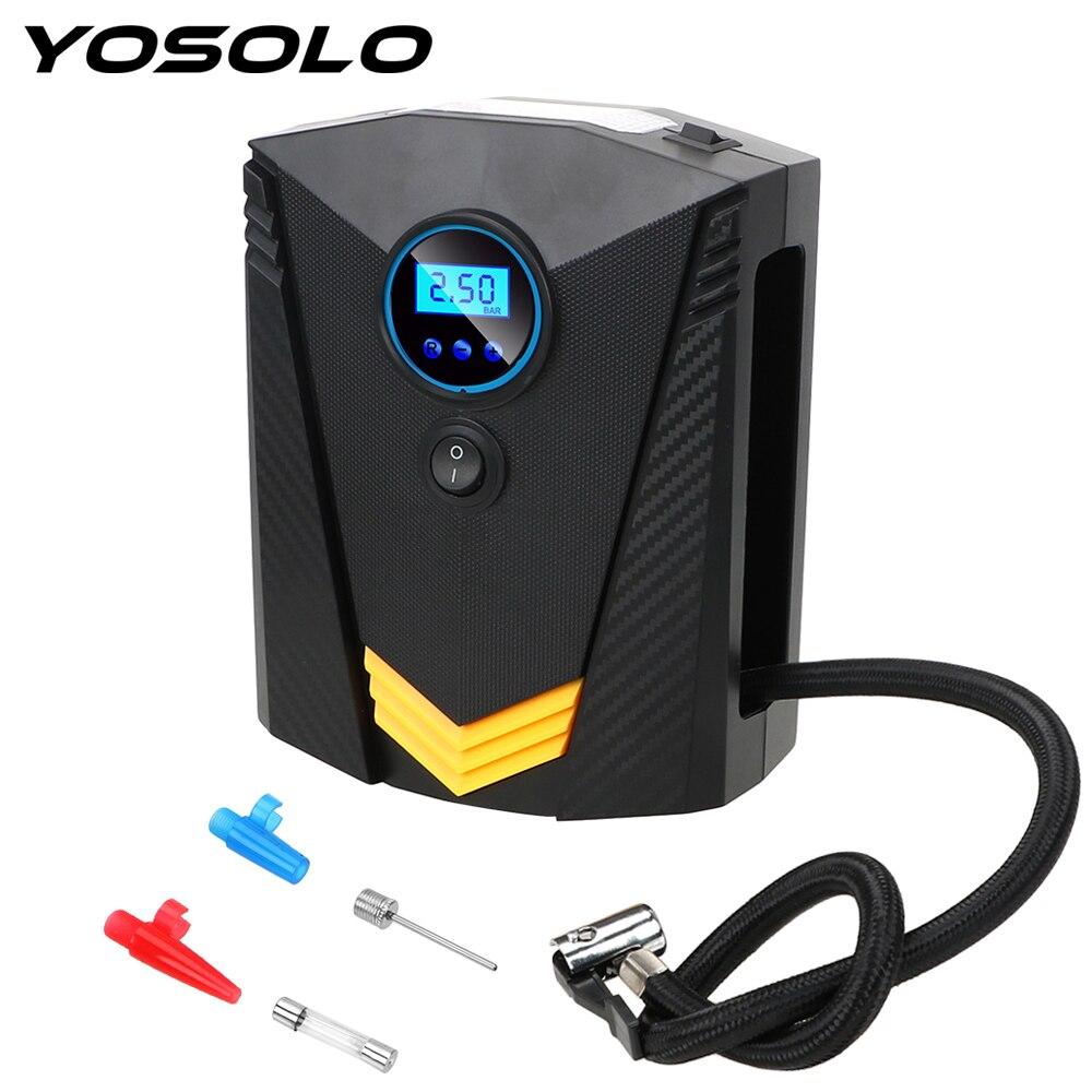 YOSOLO 150 PSI Auto Air Pump Digital Tire Inflator Car Air Compressor Pump DC 12V For Car Motorcycle LED Light Tire Pump