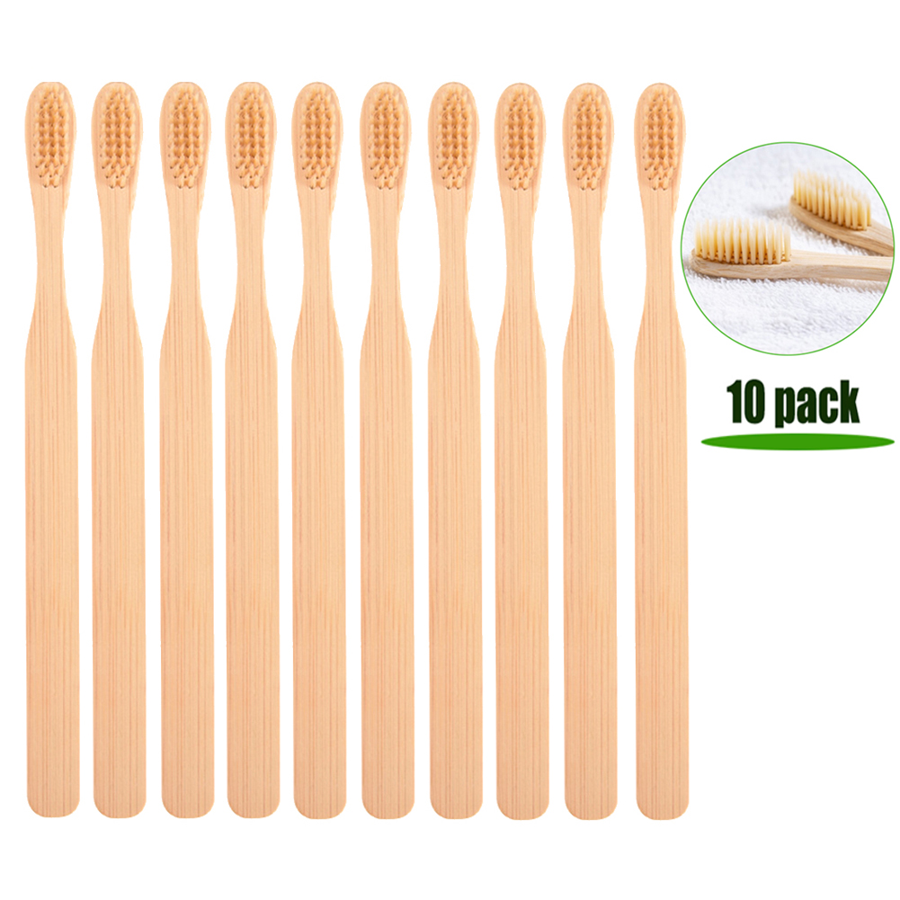 10pcs/lot Environmental Bamboo Toothbrush Soft Bristle Healthy Hygiene Dental Oral Care Toothbrushes For Wholesale