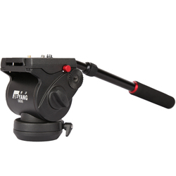 JIEYANG JY 0606H hydraulic PTZ  tripod head 3/8  rail flat head Suitable for  Manfrotto 701 500 501 502 Quick Release