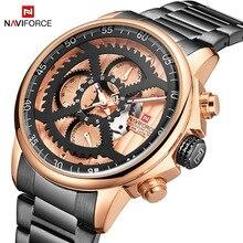 Naviforce Mannen Luxe Merk Horloge Business Mannen Quartz Horloge Waterdicht Stalen Band Mannelijke Klok Horloges Relogio Masculino