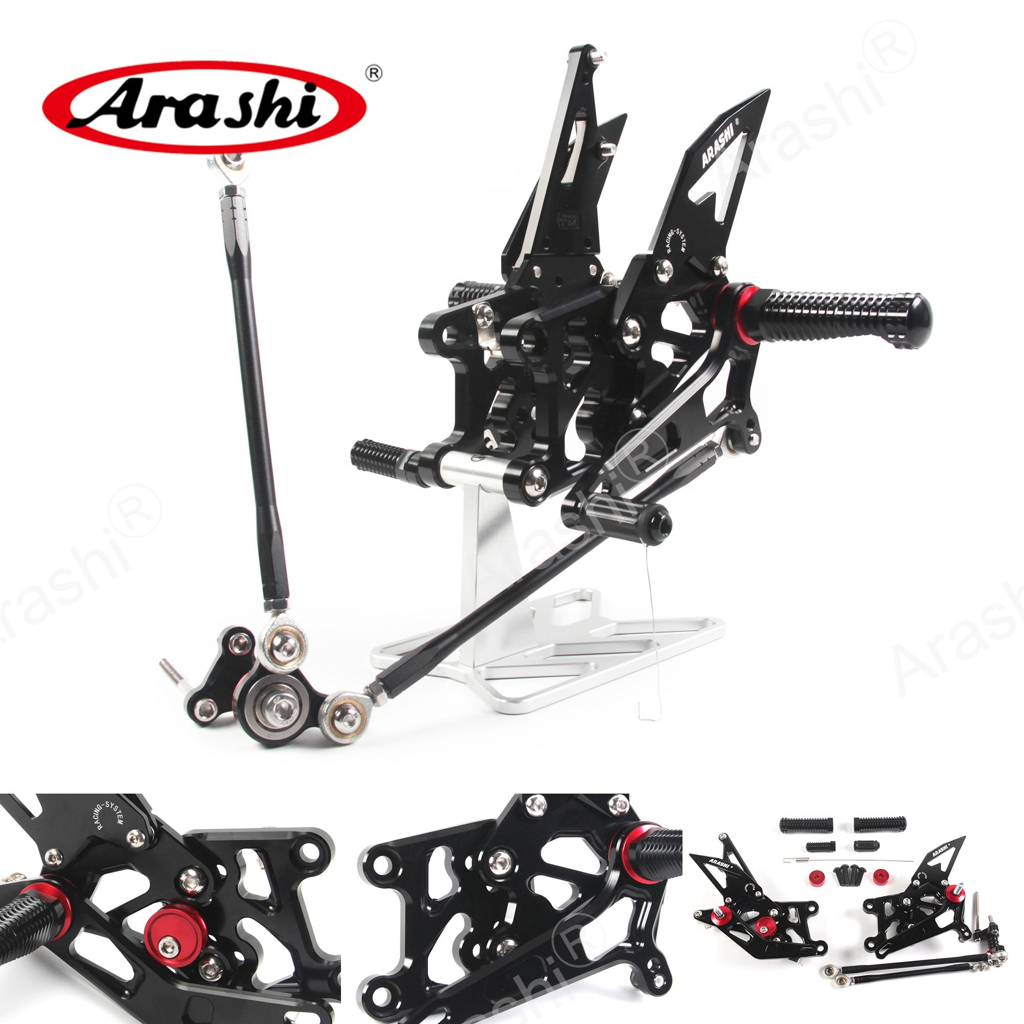 ARASHI Rider Footrest For HONDA CBR600RR Adjustable Rearset Foot Pegs CBR 600 RR 2007 2008 Rear Foot Rest CBR 600RR 07 08 CNC