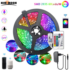 RGB LED Strip WIFI SMD 2835 Waterproof Light 60leds/M DC 12V 5m10m15m For Bedroom Decoration Alexa 24 Key Control Adapter Ribbon