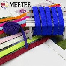 Meetee bandes élastiques pour 20 mètres, 10mm de largeur pour sous vêtements, sangle à lépaule, soutien gorge, ceintures de maillot de bain, accessoires de décoration pour carnet, bricolage