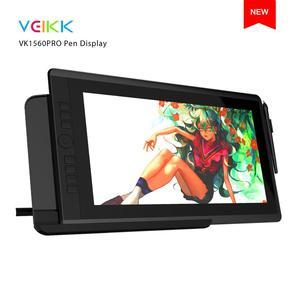VEIKK VK1560 Pro 15,6-дюймовый графический монитор IPS HD с 7 клавишами быстрого доступа и быстрым циферблатом