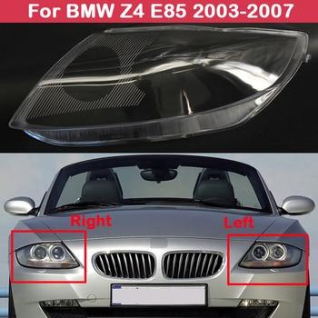 цена на Headlamp Shade Transparent Headlight cover Shade Head lamp Shell lampshade lens for BMW Z4 E85 2003-2007