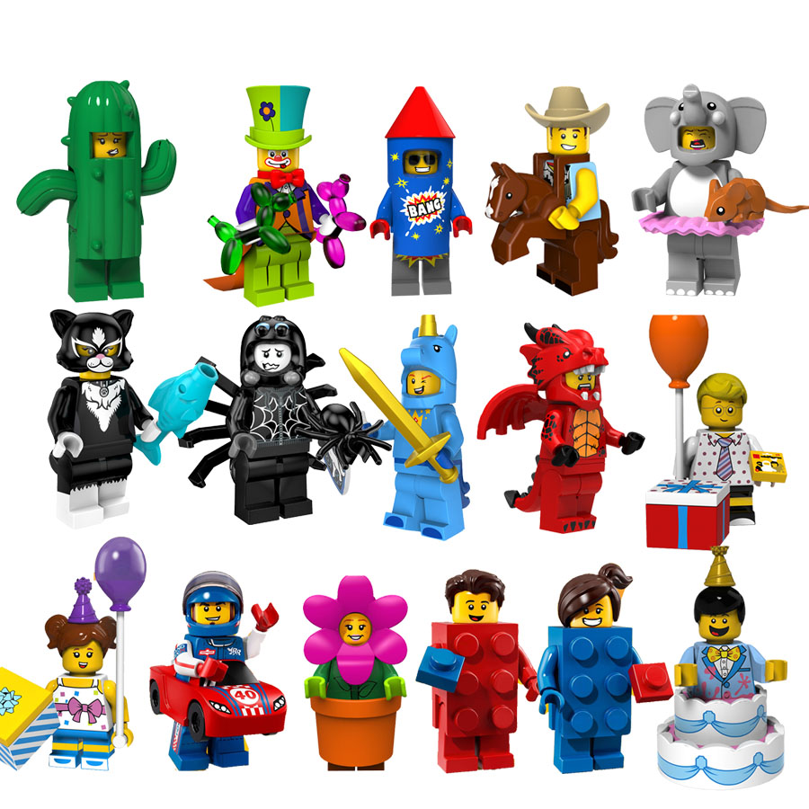 Single Sale Collectible Building Blocks Cowboy Fireworks Boy Troupe Clown Unicorn Boy Legoings Minifigured Bricks Kids Toys Gift