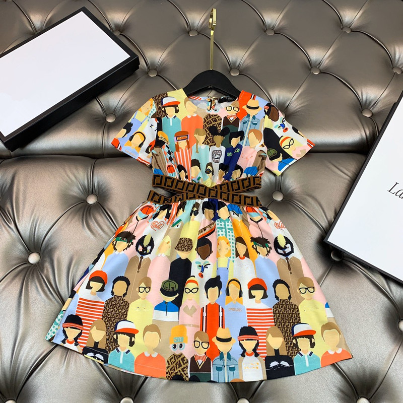 Girls 2020 Fashion X Letter Dress