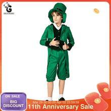 Costumes Elf-Ireland Kids Suit Boys for Jacket-Set Festivals Saint Patrick's-Day National