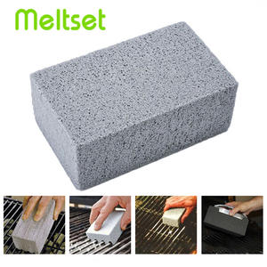 BBQ Cleaner Barbecue Grill Cleaning Brick Non Slip Odorless BBQ Cleaning Stone Stains Cleaner for Grill Mesh BBQ Accessories