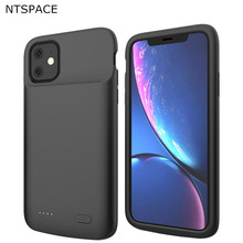 NTSPACE Battery Cases For iPhone 11 Power Case 5000mAh Extenal Bank Liquid Silicone Shockproof Cover Charging