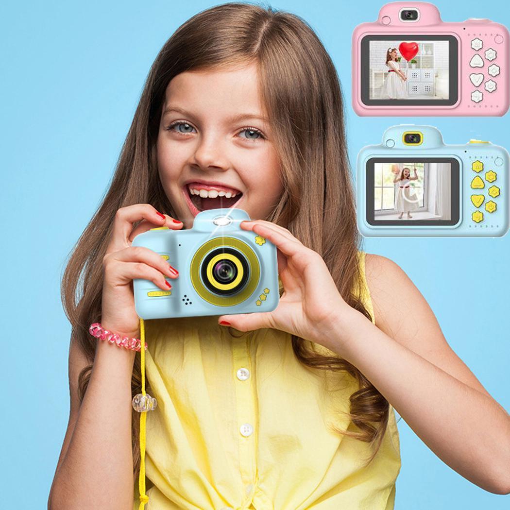 Kids Mini Digital Camera LCD Screen Children 4-15Years DC Support DC.5V1A Sport Cartoon 610 MAh Camera Gifts