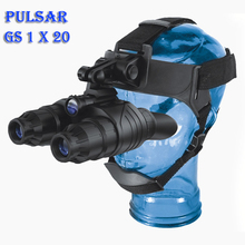 Pulsar GS 1X20 Head-Mounted Type Night Vision Binoculars Full Dark Tactical Infrared Goggles Helmet Glasses Hunting Device