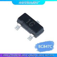 100 peças bc847c sot23 bc847 sot smd sot sot-23 1g 0.1a/45v novo transistor