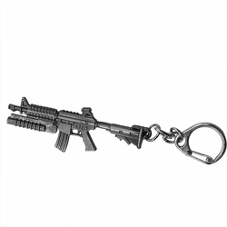 2019 New Game Simulation Gun Keychain Heavy 3D Simulation Gun Rock Cool Male Weapon Gun Key Ring Jewelry For Car Holder Chavero