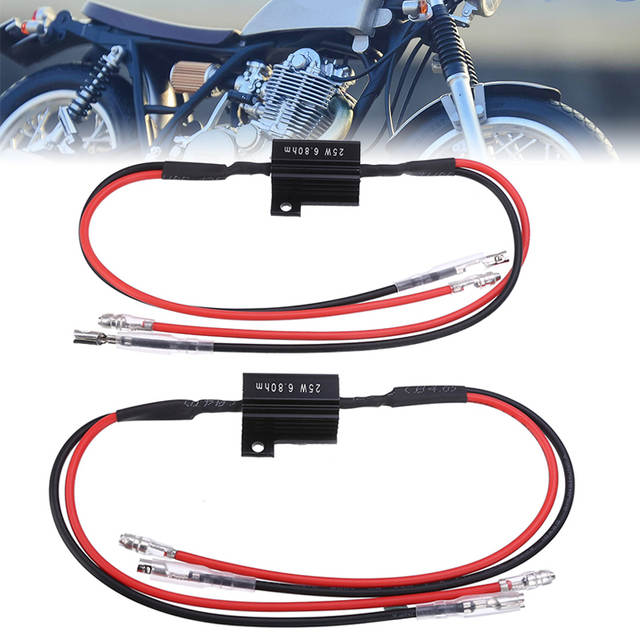 Resistor for Motorcycle LED Mini indicators ATV 25/Watt 10/Ohm  2/Pieces
