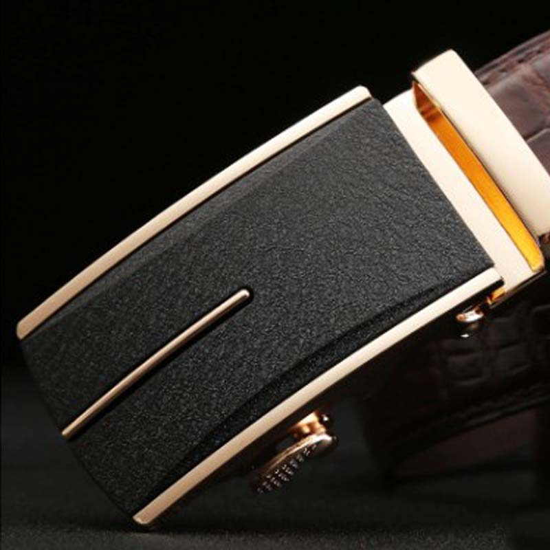 linshe crocodile men belt  The real thing  men  Automatic buckle  Genuine leather  The belt  male  youth  business  leisure