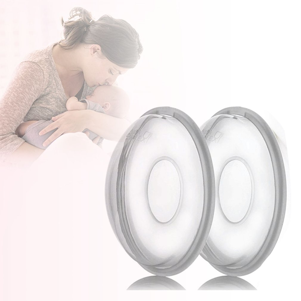 1 Pair Silica Gel Collection Cover Baby Feeding Breast Milk Collector Soft Postpartum  Suction Container Reusable Nursing Pad