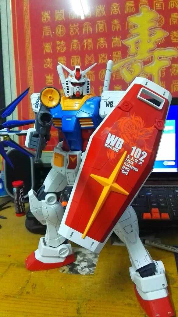 Daban Gundam 1//48 Scale MEGA SIZE RX-78-2 Fighter Large size 37.5cm assemby kits