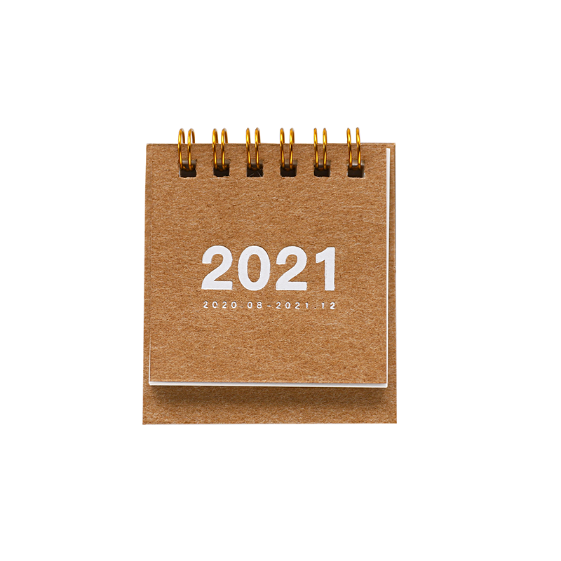 2021 Simple solid color mini Desktop Paper simple Calendar dual Daily Scheduler Table Planner Yearly Agenda Organizer 5