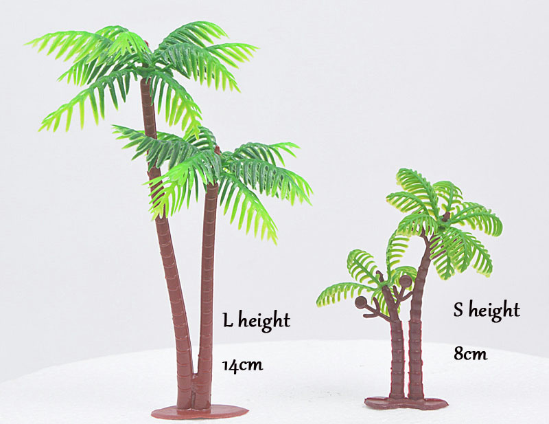 Admirable Coconut Palm Tree Landscape Cake Topper Creative Party Festival Birthday Cards Printable Trancafe Filternl