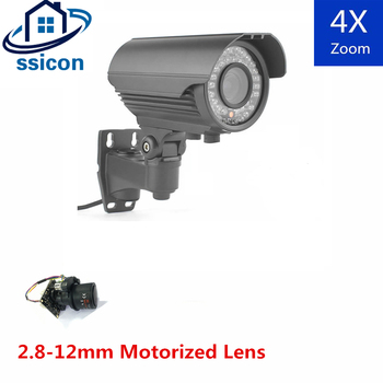 SSICON 2MP 2.8-12mm Motorized Lens 4X Auto-Zoom AHD Video Surveillance Camera Outdoor Bullet 1080P Analog CCTV Camera 2 0mp all in one camera 30x 3 90mm wdr box camera ahd auto iris dsp 30x digital zoom surveillance cctv ahd camera 1080p