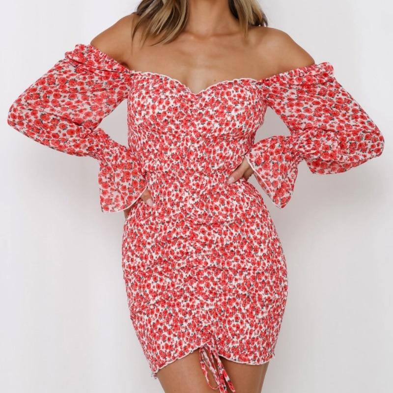 2020 Spring New Women Floral Print Sashes Shirt Dress Beach Women's Loose Short Boho Mini Dress Girls Party Solid Streetwear 10