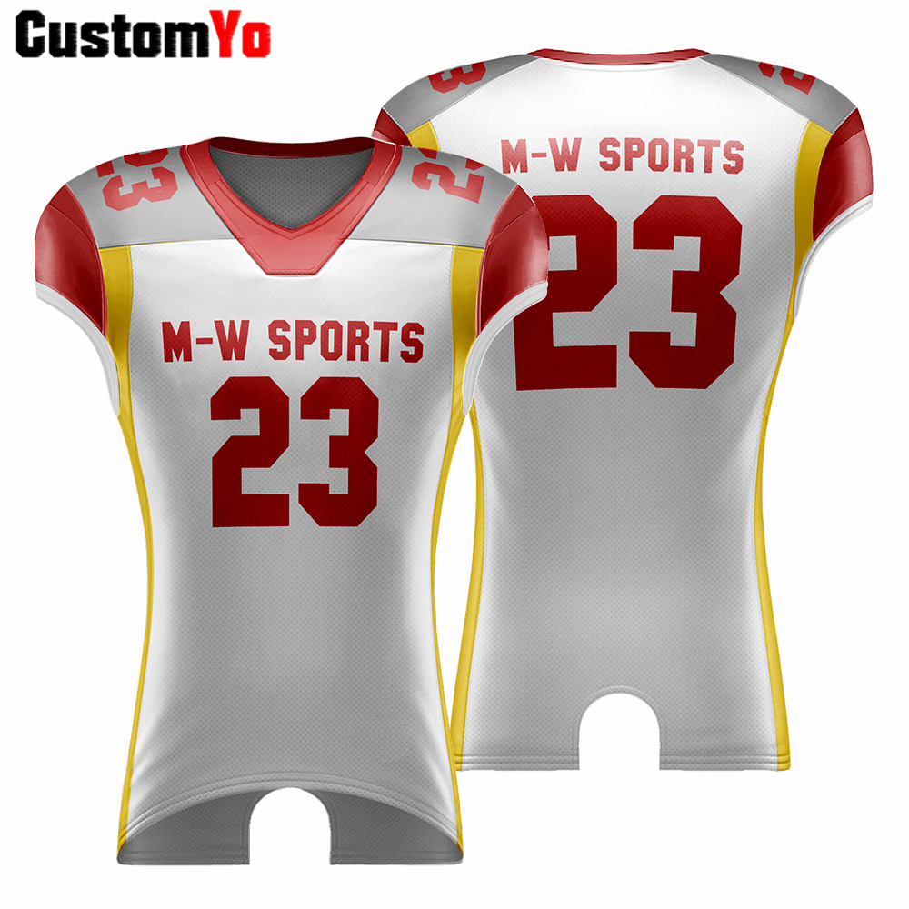 Professional Custom College Training Team Wear Football Shirt Pieces American Football Jerseys image