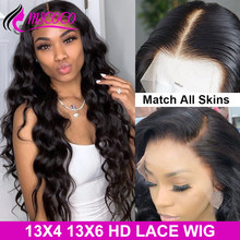 HD Transparent Lace Wig 13x6 Body Wave Lace Front Human Hair Wig 4x4 Remy Closure Wig 200 250 Density Wavy HD Lace Frontal Wig